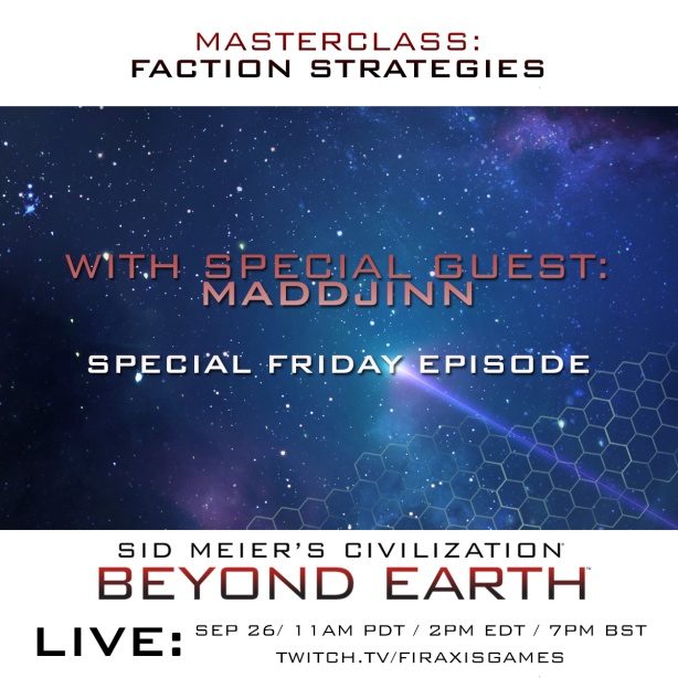 Livestream for Beyond Earth at Firaxicon